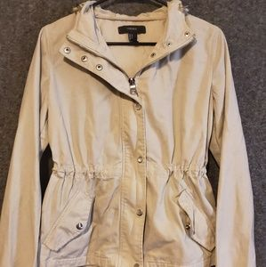 Forever 21 Cargo Jacket with Cinched Waist M